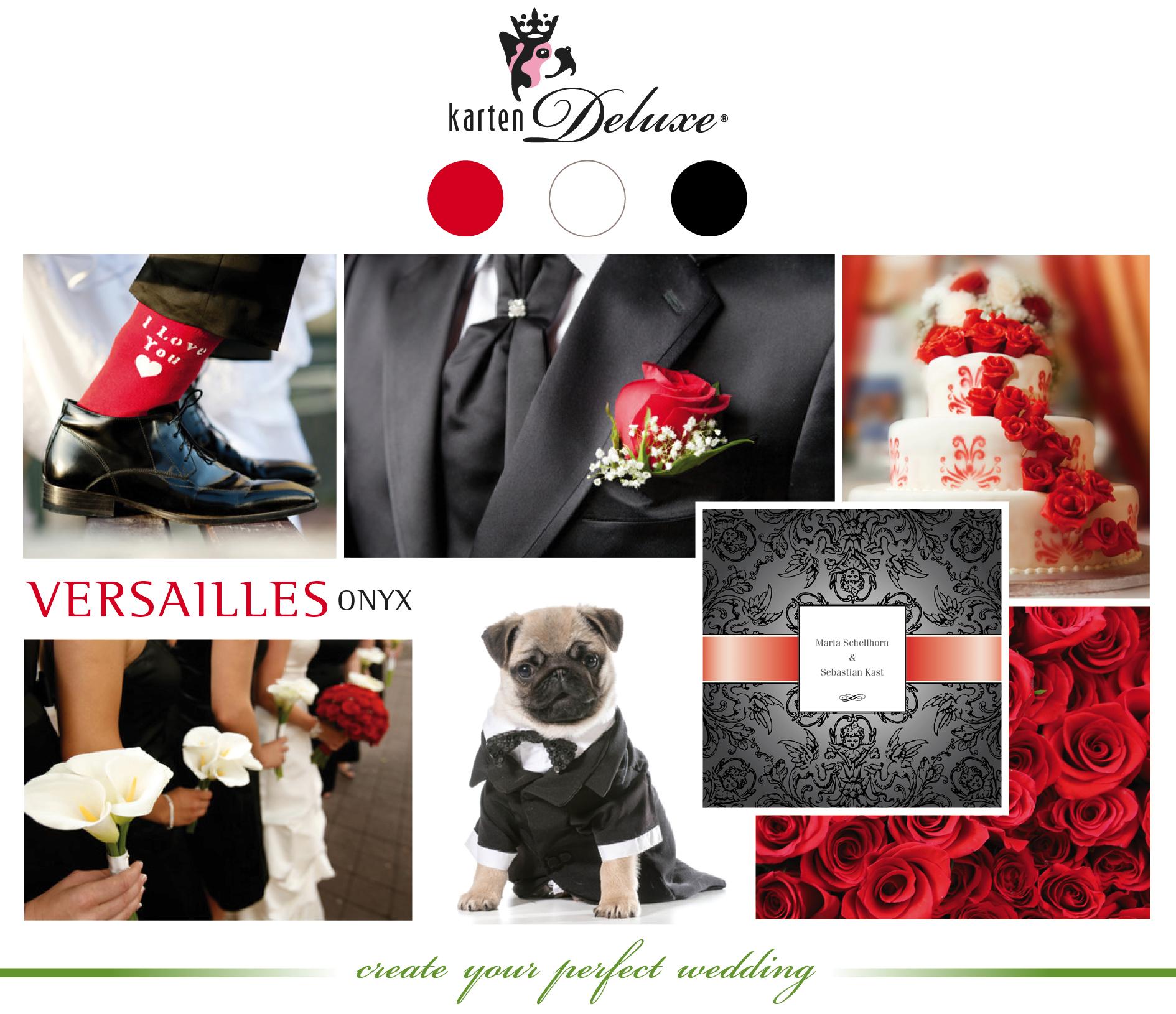 Hochzeitskarten Klassiker In Rot Weiss Schwarz Wedding Deluxe