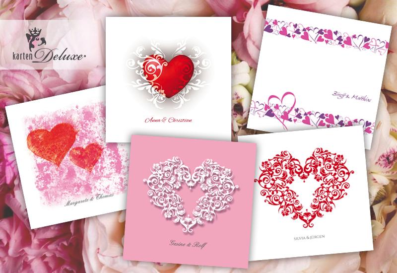 Symbol Der Liebe Hochzeitskarten Mit Herzen Die Schonsten